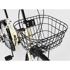 折り畳み自転車 20インチ6段変速カゴ付折りたたみ自転車 FB-206R (BK)(OTOMO Raychell FB-206R) (24212)|ms-ad|03