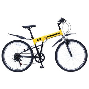 ミムゴ ハマー FサスFD-MTB266SE (イエロー)折り畳み自転車 HUMMER FサスFD-MTB266SE (MG-HM266E) フォールディングバイク 365 ms-ad