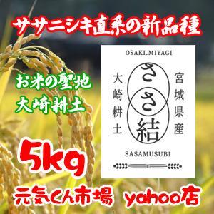 新米 ささ結 5Kg 令和2年産 宮城県産 新品種 特別栽培米(減農薬・減化学肥料) ささむすび 精米 送料無料(一部地域を除く)|ms-genki