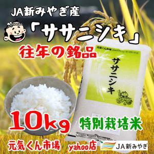 令和2年産 通販 ササニシキ 宮城県産 10Kg 特別栽培米(減農薬・減化学肥料) ささにしき 一等米 精米 送料無料(一部地域を除く)|ms-genki