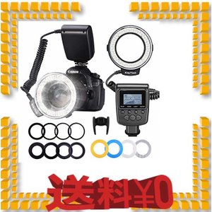 NEEWER カメラ/一眼レンズカメラ用 接写専用ストロボ LED 48球 マクロリングライト/マク...