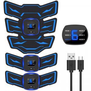 EMSIC EMS 腹筋ベルト 液晶表示 USB充電式 腹筋 腕筋 筋トレ器具 トレーニングマシーン...
