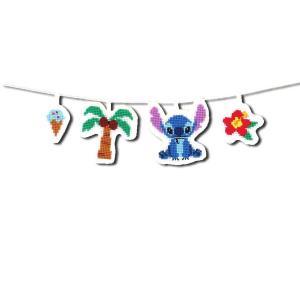 オリムパス製絲  刺しゅうキット クロスステッチ 刺繍  ディズニー ガーランド スティッチ 9049