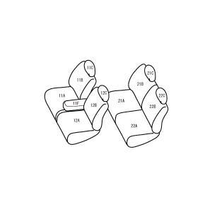 ekカスタム [H27/11-][B11W] ベーシックアルファ アイボリーxオレンジ シートカバー|msauo-store|02
