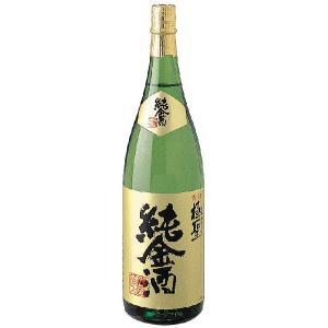 極聖 本醸造 純金酒 1800ml 【日本酒/岡山県/宮下酒造】