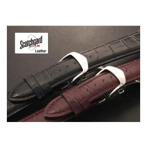 撥水 Dバックル付き腕時計ベルト バンビ スコッチガード 牛革型押し BKM051にZS007を装着|msg