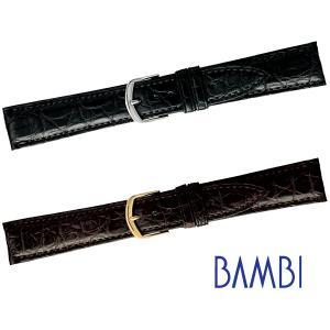 時計ベルト 時計バンド 時計 ベルト 時計 バンド バンビ クロコダイル BWA02018mm 19mm 20mm|msg