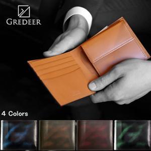二折れ財布 牛革 アドバンティック仕上げ グレディア メンズ 日本製 GCKA002 msg