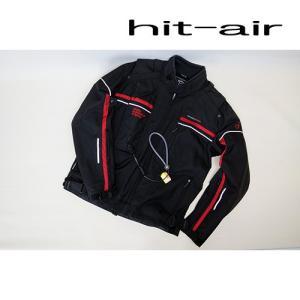 hit-airウェアーHS-3 エアーバッグジャケット Sシステム採用 ブラックレッドカラー 2XLサイズ|mshscw4