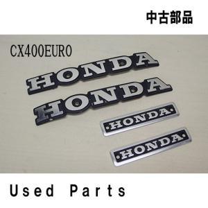バイクオートバイ 中古部品  CXユーロ NC08 エンブレムセット 87212-MC5-000 11105-415-670  ホンダ HONDA|mshscw4