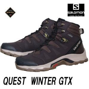 SALOMONスノースクートシューズ26.5cm QUEST WINTER GORE−TEX クエストウィンターゴアテックス 色コーヒーCoffee|mshscw4