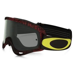 Oakley オークリー O Frame Oフレーム MX ゴーグル Distress Tagline ディストレスタグライン レッドイエロー ダークグレーレンズ OO7029-29|msi1