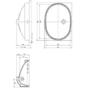 品番: L546U / TOTO:パブリック 楕円形洗面器 アンダーカウンター式 送料無料|msi|03