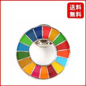 Waku Waku Shop 国連ガイドライン対応 SDGs ピンバッジ バッチ バッヂ 1個からまとめ買いまで (丸みタイプ 1個)|msjnet
