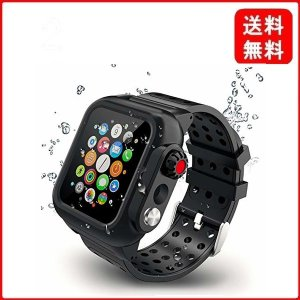 【2019新型】Apple Watch series4とseries5バンド Apple Watch液晶保護フィルム カバー 一体式 44mm対応 運|msjnet