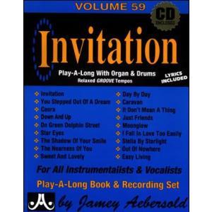 ジェイミー・プレイアロング Vol. 59:インヴィテーション〜B3オルガンと一緒にセッション (2枚組) ( | マイナスワン)|msjp