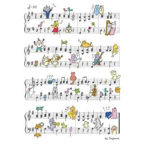 クリアファイル・ニャンズプレイミュージック1(白バック+半透明バックの2枚セット)(アクセサリー | 雑貨)|msjp