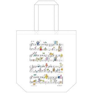 ミュージックストア・ジェイ・ピー特製トートバッグ・ニャンズプレイミュージック1(軽いコットン素材)(アクセサリー | 雑貨)|msjp