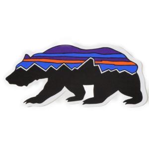パタゴニア ステッカー フィッツロイ ベア PATAGONIA FITZROY BEAR 熊 クマ ベアー アニマル シール デカール STICKER メール便 同梱可