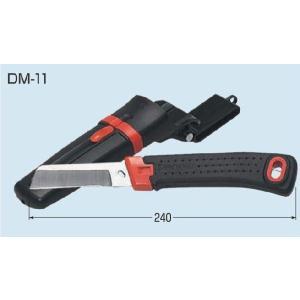 未来工業(ミライ) DM-11L 電工ナイフ ゴムグリップ 左利き用 ケース付き 『DM11L』 msm