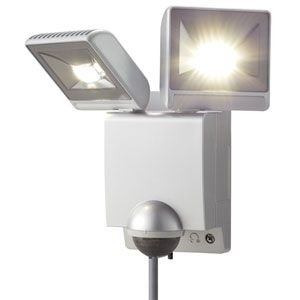 オプテックス LA-22LED(S) シルバー LEDセンサライト ON/OFFタイプ 2灯タイプ 送料無料 『LA22LEDS』|msm