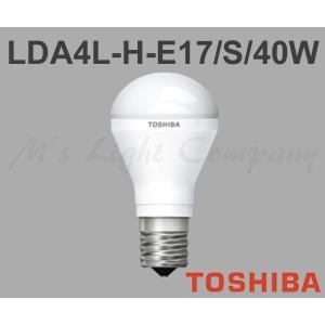東芝 LDA4L-H-E17/S/40W LED電球 ミニクリプトン形 440lm 小形電球40W形相当 下方向タイプ E17口金 電球色 断熱材施工器具対応 『LDA4LHE17S40W』