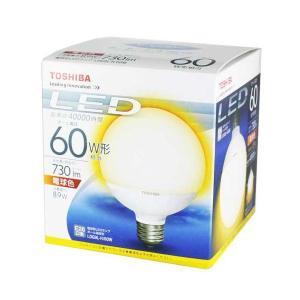 東芝 LDG9L-H/60W  LED電球 ボール電球形 電球色 口金E26 『LDG9LH60W』