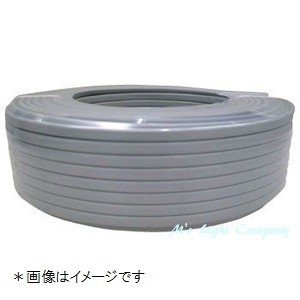 カワイ電線 VVF2.0×2C VVFケーブル 600Vビニル絶縁ビニルシースケーブル 2.0mm 2心 グレー(灰色) VA2.0*2C 100M巻き