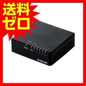 エレコム EHC-F05PA-B スイッチングハブ 5ポート 10 / 100Mbps AC電源