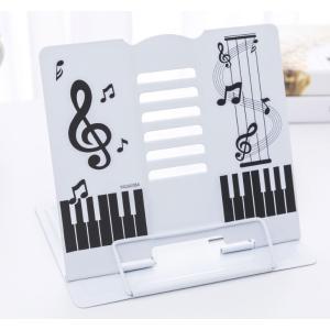 譜面台 折りたたみ譜面台 卓上 譜面台 音符柄 ♪ 便利なクリップつき♪