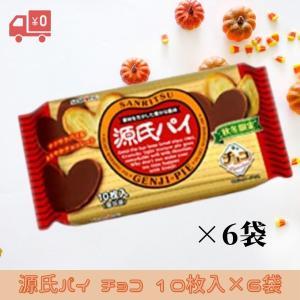 サンリツ 源氏パイ チョコ 10枚入×6袋 サクサクパイにチョコがけ 三立製菓 msonlineshop