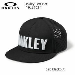 オークリー パンチングメッシュ キャップ OAKLEY Perf Hat [ 911702-02E ] ブラック|msp