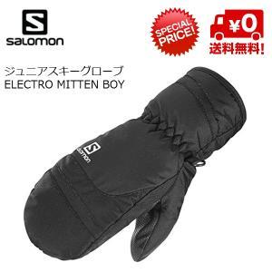 サロモンジュニア スキーグローブ ミトン SALOMON ELECTRO MITTEN BOY black [L37605800]|msp