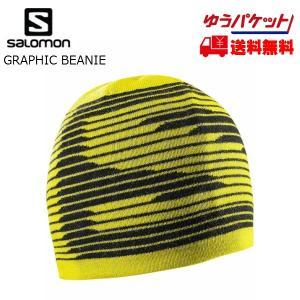 サロモン ニットキャップ SALOMON GRAPHIC BEANIE Alpha Yellow [L39049600]|msp