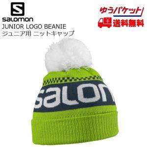 サロモン ジュニア ニットキャップ SALOMON JUNIOR LOGO BEANIE Granny Green [L39066400]|msp
