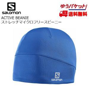 サロモン マイクロフリース キャップ アクティブビーニー SALOMON ACTIVE BEANIE Blue Yonder [L39103500]|msp