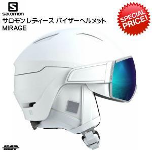 サロモン レディース バイザーへルメット SALOMON MIRAGE ホワイト [L40593900]|msp