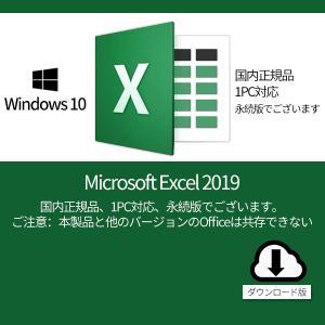 Microsoft Excel 2019 1PC プロダクトキー・オンラインコード [正規版 /永続...