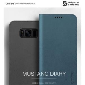 <araree(アラリー)>【Galaxy S9 5.8インチケース】 MUSTANG DIARY(マスタング ダイアリー) 落ち着いたマットカラーにソフトな質感が魅力 AR12514S9|msquall-y