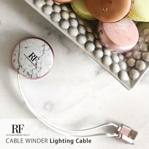 <Richmond & Finch リッチモンド&フィンチ>【Lightning Cable】 CABLE WINDER Lighting Cable 巻き取り式充電 データ転送ライトニングケーブル CW-006|msquall-y