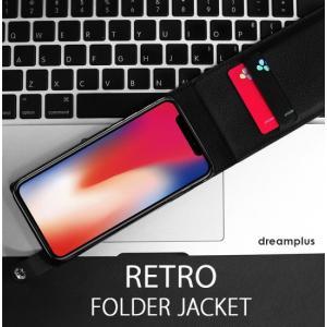 <dreamplus(ドリームプラス)>【iPhone X 5.8インチ】 手帳型 RETRO FOLDER JACKET 片手でも使いやすい縦開きタイプ DP10120i8 DP10121i8|msquall-y