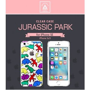 <Dparks> 【iPhone SE iPhone 5s/5両対応】 Jurassic Park (ディーパークス ジュラシックパーク) 透明感のあるクリアケース DS7615i5se|msquall-y