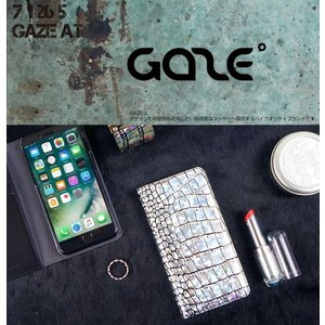 <GAZE(ゲイズ)>【iPhone X/XS 5.8インチ】 手帳型 Hologram Croco Diary 天然皮革にホログラム加工、そしてクロコ型押し高級感 GZ10219i8|msquall-y