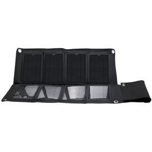 圧倒的なパネル面積 ソーラーパネル8枚搭載し、圧倒的なパネル面積を実現。付属のシガーソケットとUSB...
