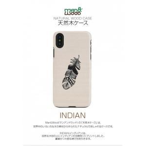 <Man&Wood(マンアンドウッド)>【iPhone XS Max 6.5インチ】 Indian 天然木を使ったナチュラルなウッドの質感が感じられるケース I13897i65|msquall-y