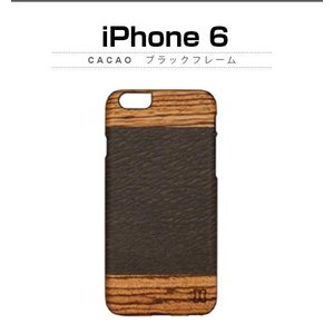 <Man & Wood>【iPhone6s/iPhone6 4.7インチ】天然木 Cacao (マンアンドウッド カカオ)ブラック I4490i6|msquall-y