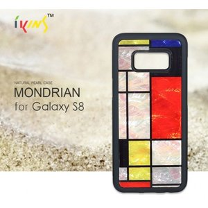 <ikins(アイキンス)>【Galaxy S8 5.8インチケース】Mondrian(モンドリアン)テレビや雑誌でも紹介されてるおしゃれな天然貝ケース I9769S8|msquall-y