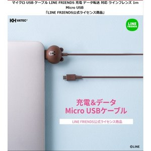 <LINE FRIENDS(ラインフレンズ)>公式ライセンス商品 充電・データ転送が可能なMicro USBケーブル サリー コニー ブラウン KCL-AMC002 KCL-AMC004 KCL-AMC001|msquall-y