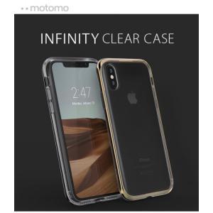 <motomo>【iPhone XS Max 6.5インチ】 INFINITY CLEAR CASE 透明なソフトクリアケースにバンパー部分はiPhoneに似合うスタイリッシュなカラー MT15349i65|msquall-y