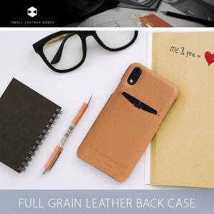 <SLG Design>【iPhone XR 6.1インチ】Full Grain Leather Back Case 牛革にキメ細かいシボ加工(シワ模様)を型押しを施した上品なケース SD15461i61 msquall-y